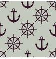 Anchor and ship wheel Nautical texture vector image