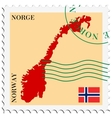 mail to-from Norway vector image vector image