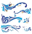 Arabic ornaments with waves vector image