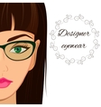 Attractive woman in spectacles Optician stylish vector image