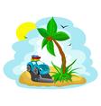 funny island vector image