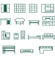 Furniture for home and office icon set vector image