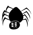 isolated spider silhouette vector image