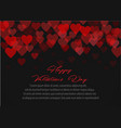 red pattern of random falling hearts confetti vector image