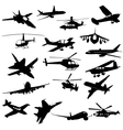 Silhouette aviation vector image
