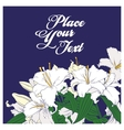 White lilies card vector image