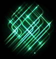 Abstract neon green background with lines vector image