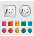 icon dipped headlights vector image vector image