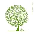 Healthy food tree sketch for your design vector image
