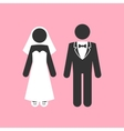 Wedding Couple Marriage Invitation Template vector image vector image