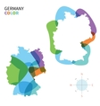Abstract color map of Germany vector image