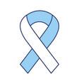 blue awareness ribbon vector image
