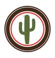 cactus plant wild west icon vector image