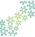 christmas snow flake falling card decoration vector image