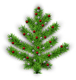 Christmas tree over white background vector image