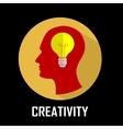 Concept of innovation creativity emergence idea vector image