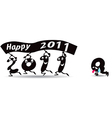 happy new Year 2011 greeting card vector image