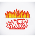 Hot deal design vector image