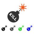 kill bomb flat icon vector image