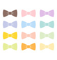 colorful bow tie isolated bowtie accessory elegant vector image
