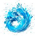 splash wave water stream vector image vector image