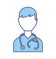 blue doctor character cartoon vector image