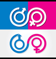 Male and female symbol stock vector image vector image