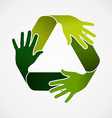 Recycle teamwork concept vector image