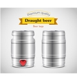 Realistic metal beer keg vector image