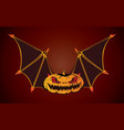 bat halloween vector image