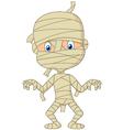 Cartoon mummy vector image