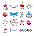 collection of logos jewelry vector image