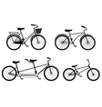 Different Style Bicycles Silhouettes Set vector image