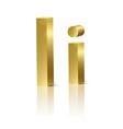 Golden letter I vector image
