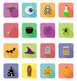 Halloween flat icons 20 vector image