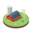 Isometric 3d of farm vector image