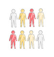 person icon in four colors vector image