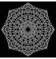 Round lace pattern Mandala vector image