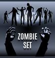 Zombie set vector image