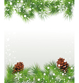 Christmas fir tree with cones vector image vector image