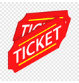 two red tickets isometric icon vector image