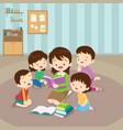 teacher reading for kids vector image