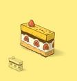 raspberry cake vector image