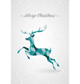 Merry Christmas trendy reindeer postcard vector image vector image