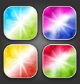 Abstract backgrounds with for the app icons vector image vector image