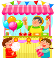 candy stall vector image vector image