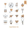 Happy Valentines Day Icons vector image