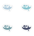 Set of paper stickers on white background love vector image