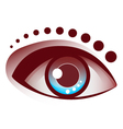 Beautiful Eye Brown and Blue Pupil vector image