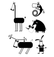 Comic cartoon funny animals vector image